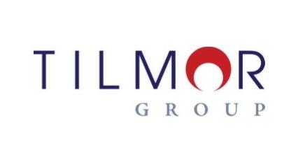 Tilmor Group blue and red logo