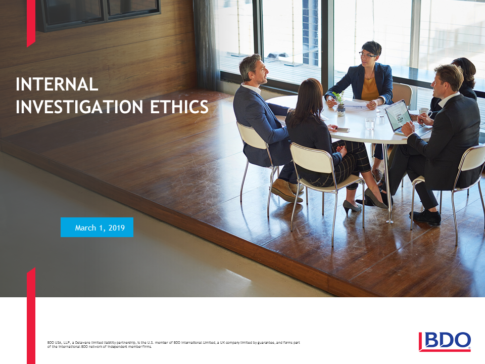 Internal Investigations Ethics (1 PA Ethics CLE)