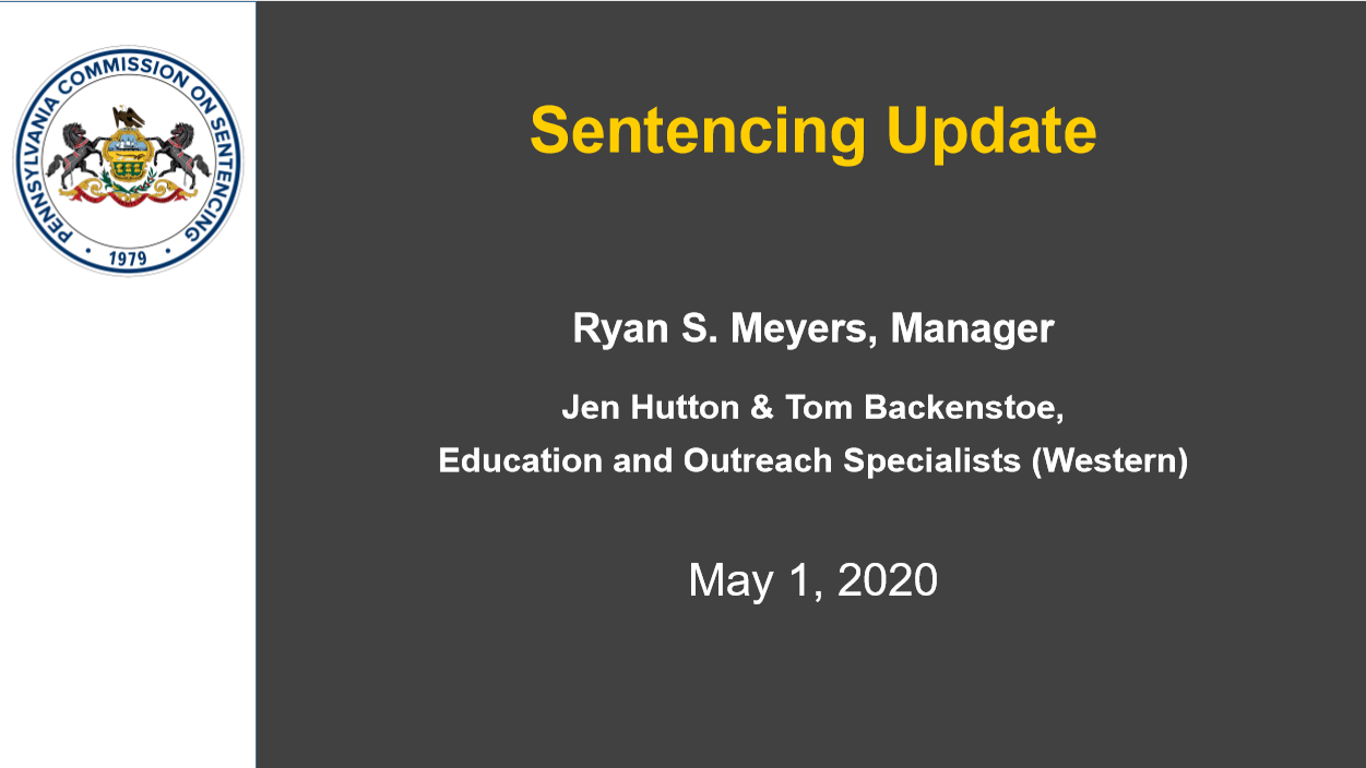 2020 New Sentencing Guidelines (2 PA Substantive CLE Credits)