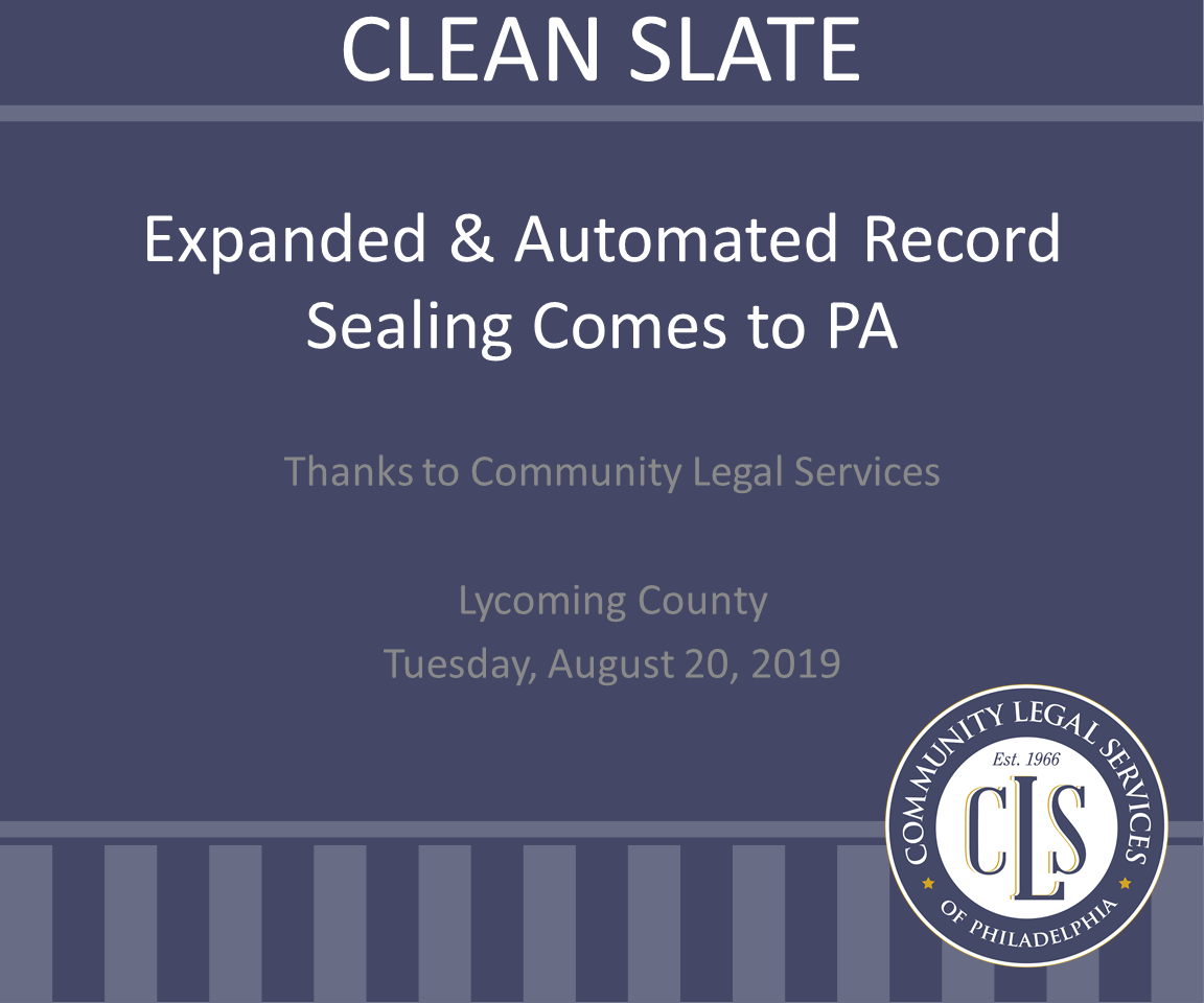 PA Clean Slate (1 PA Ethics CLE Credit)
