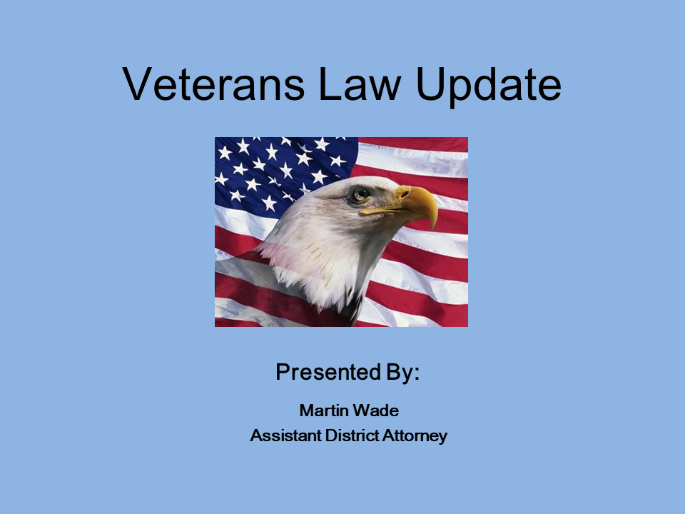 Veterans Law Update (1 PA Substantive CLE)