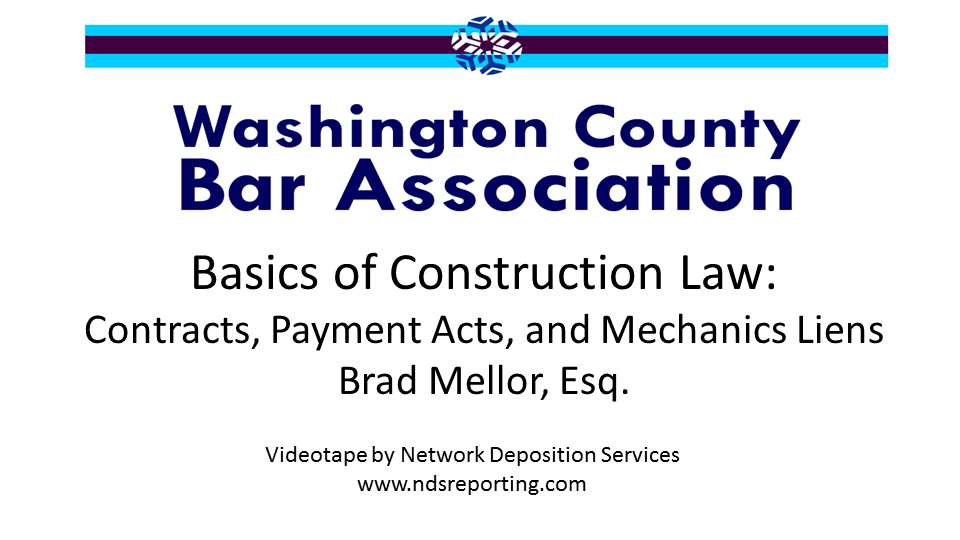 Basics of Construction Law (1 PA Substantive CLE Credit)