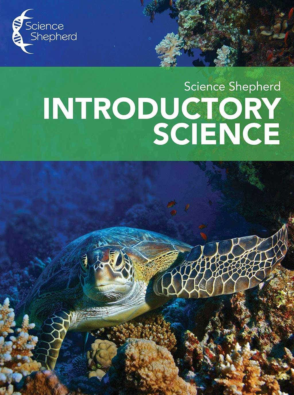 Science Shepherd Christian Homeschool Curriculum Introductory Science Video Course cover of turtle