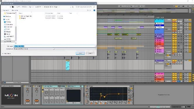 Saving Tracks, Racks & MIDI