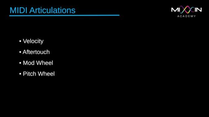 LEVEL 6 - MIDI Articulations