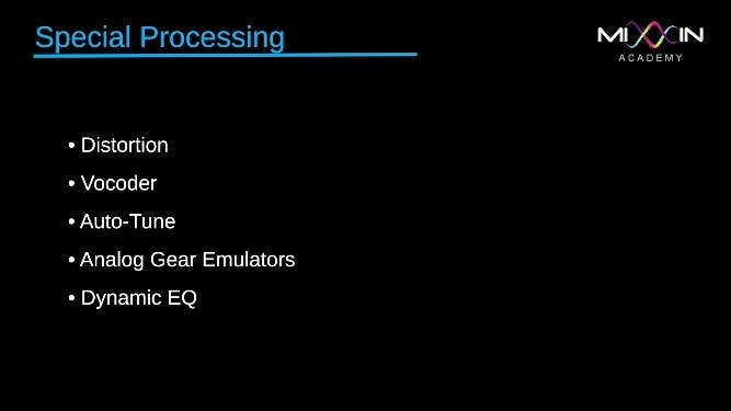 LEVEL 6 - Special Processing