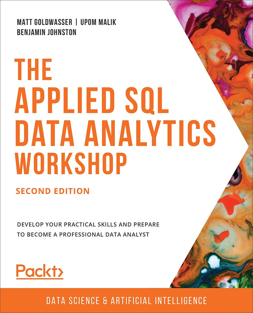 Cover of The Applied SQL Data Analytics Workshop