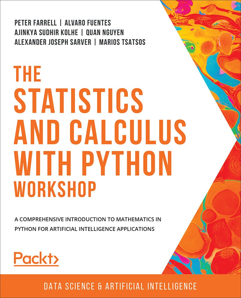 Cover of The Statistics and Calculus with Python Workshop
