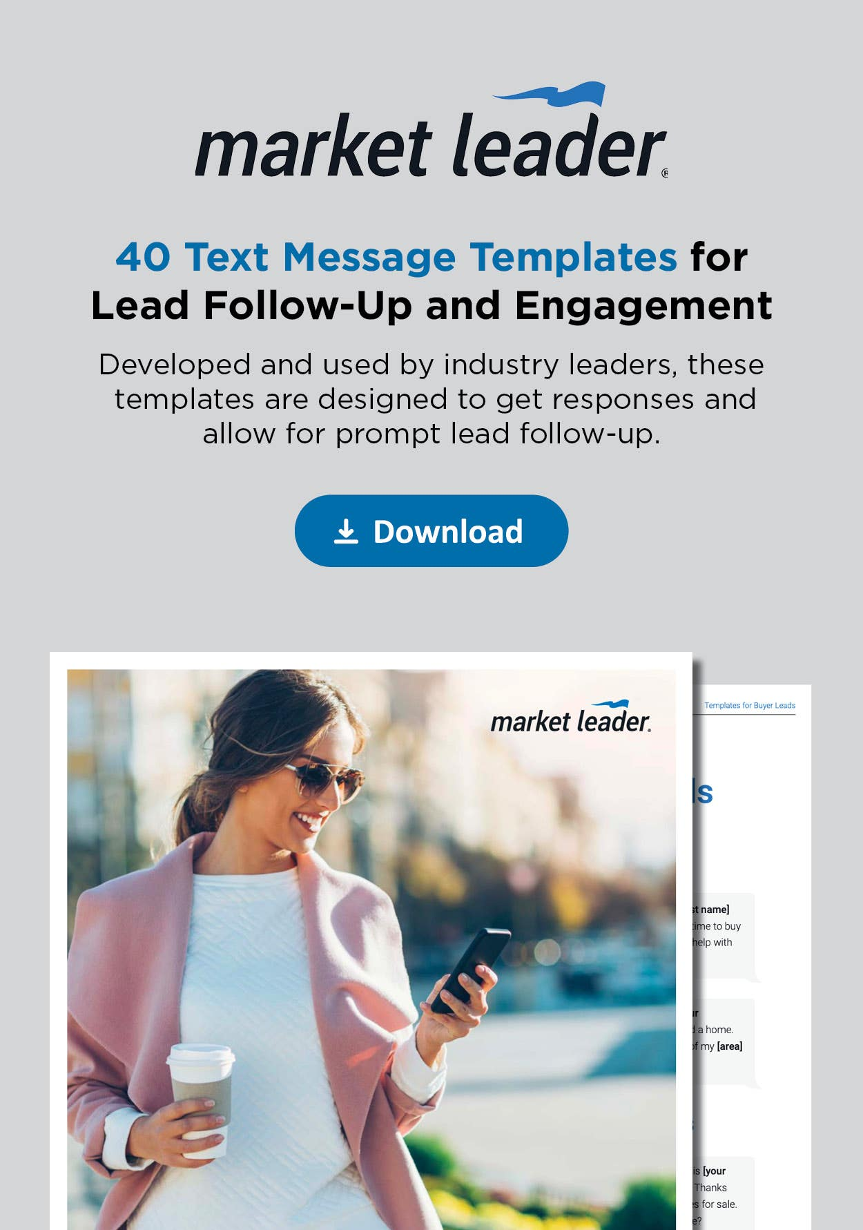40 text message templates for lead follow-up and engagement