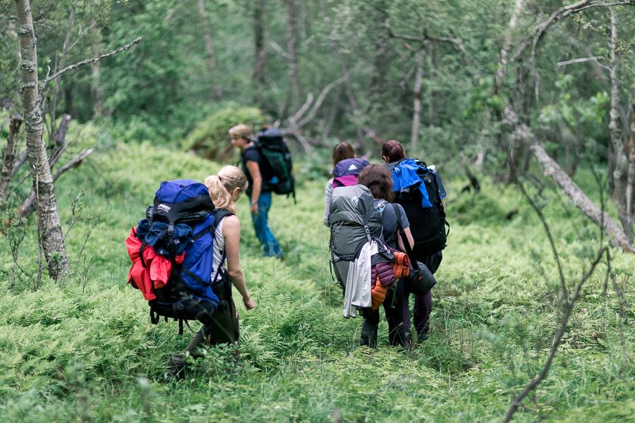 Turen til hytta er en opplevelse i seg selv
