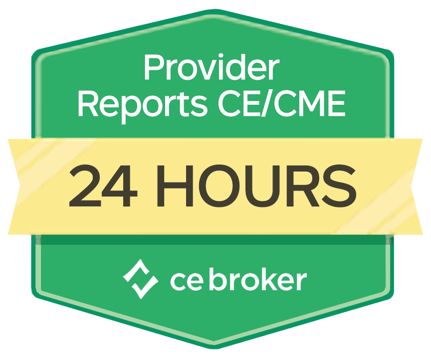 Reports to CE Broker Within 24 Hours