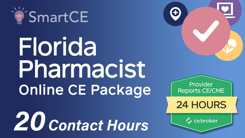 Florida Pharmacist Online CE Bundle - 20 Contact Hours/20-619940/20-588207/20-619832/20-599689/20-579245/20-704420