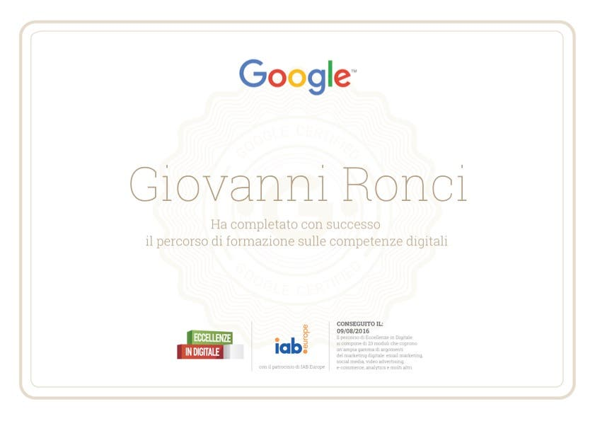Eccellenze in digitale Google