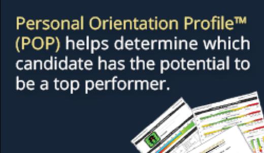 PERSONAL ORIENTATION PROFILE - POP™ VERSION 7.0
