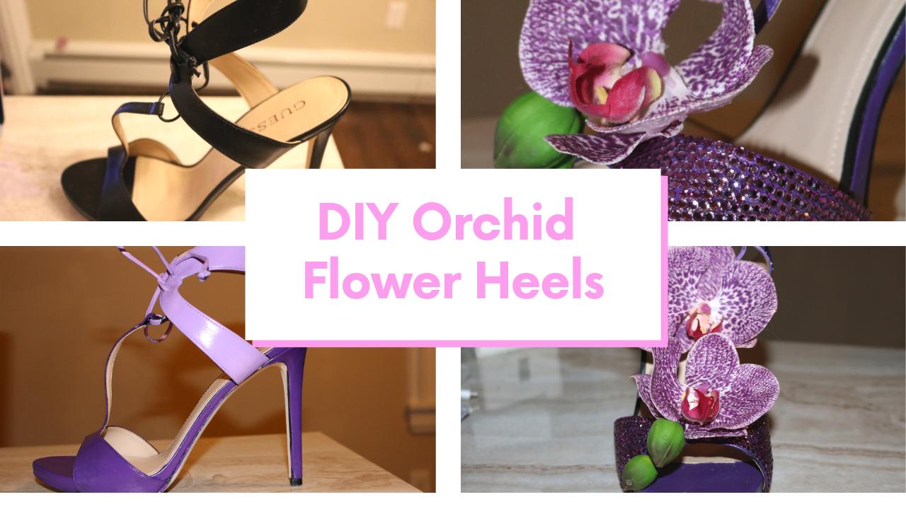 Swarovski Orchid Heels
