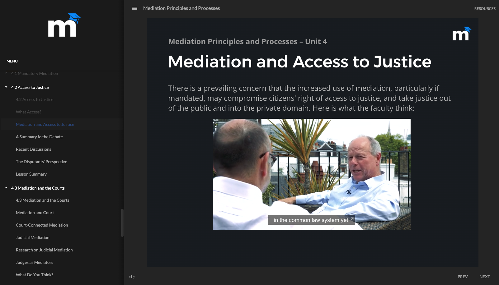 Mediator Academy Lesson