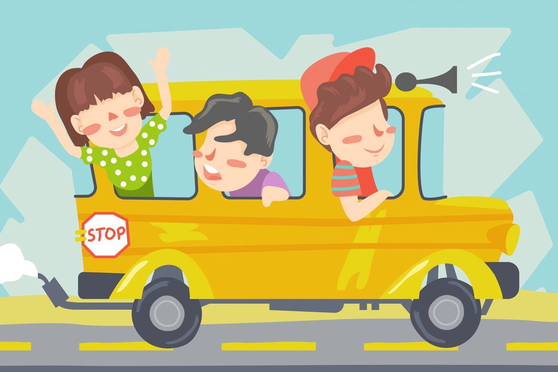 Kids Bus Graphic