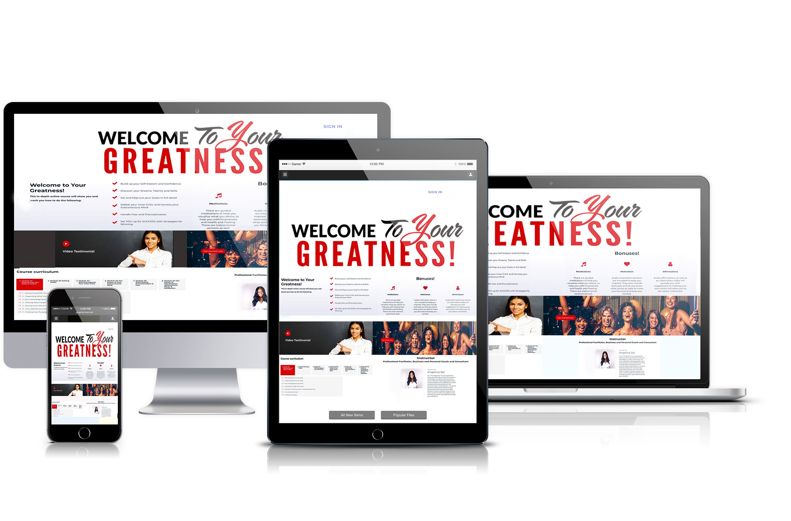 Welcome to Your Greatness!