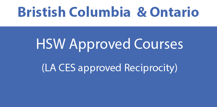 British Columbia and Ontario Approved Courses - HSW Courses