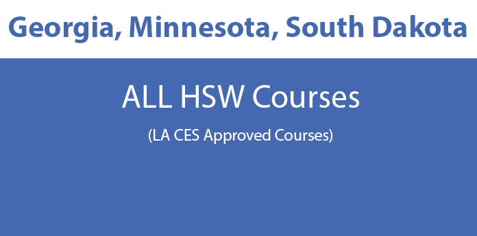 Georgia, Minnesota, South Dakota Licensee - All HSW Courses