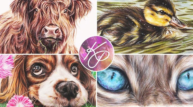 Realistic Animals in Coloured Pencil