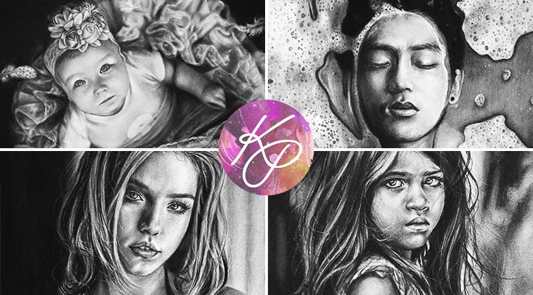 Realistic Portraits in Charcoal